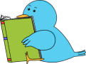 blue-bird-reading-book